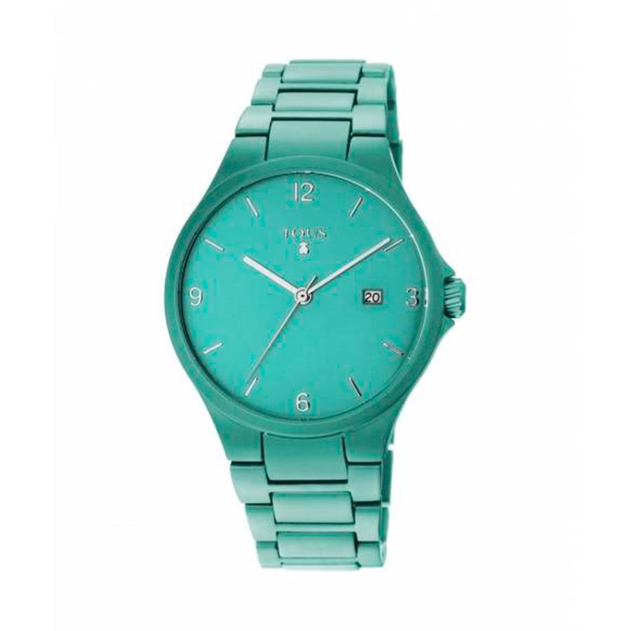 Reloj Tous Motion Mujer 800350680 Aluminio turquesa 3 agujas calendario