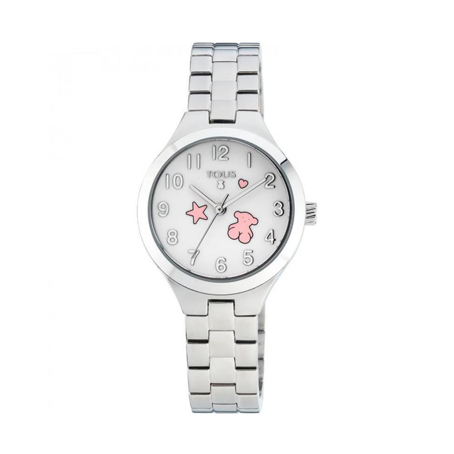 Reloj Tous Muffin Mujer 700350045 Acero con motivos rosas en la esfera