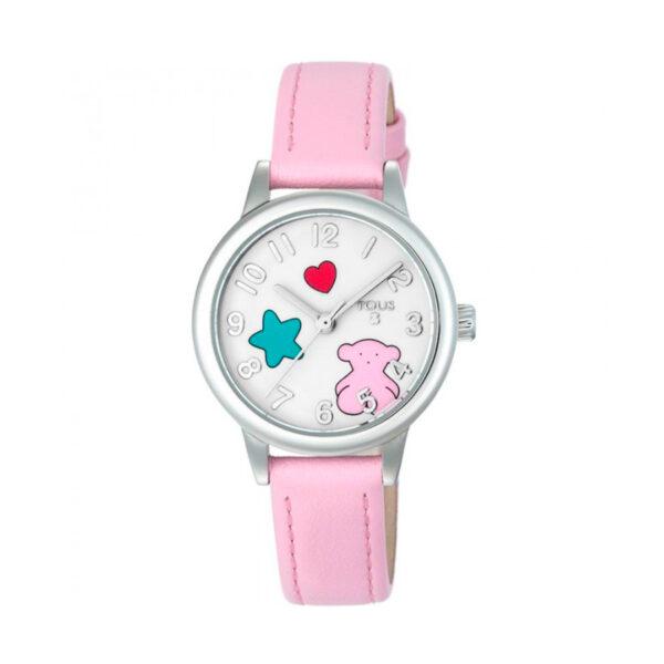 Reloj Tous Muffin Mujer 800350630 Acero correa piel rosa