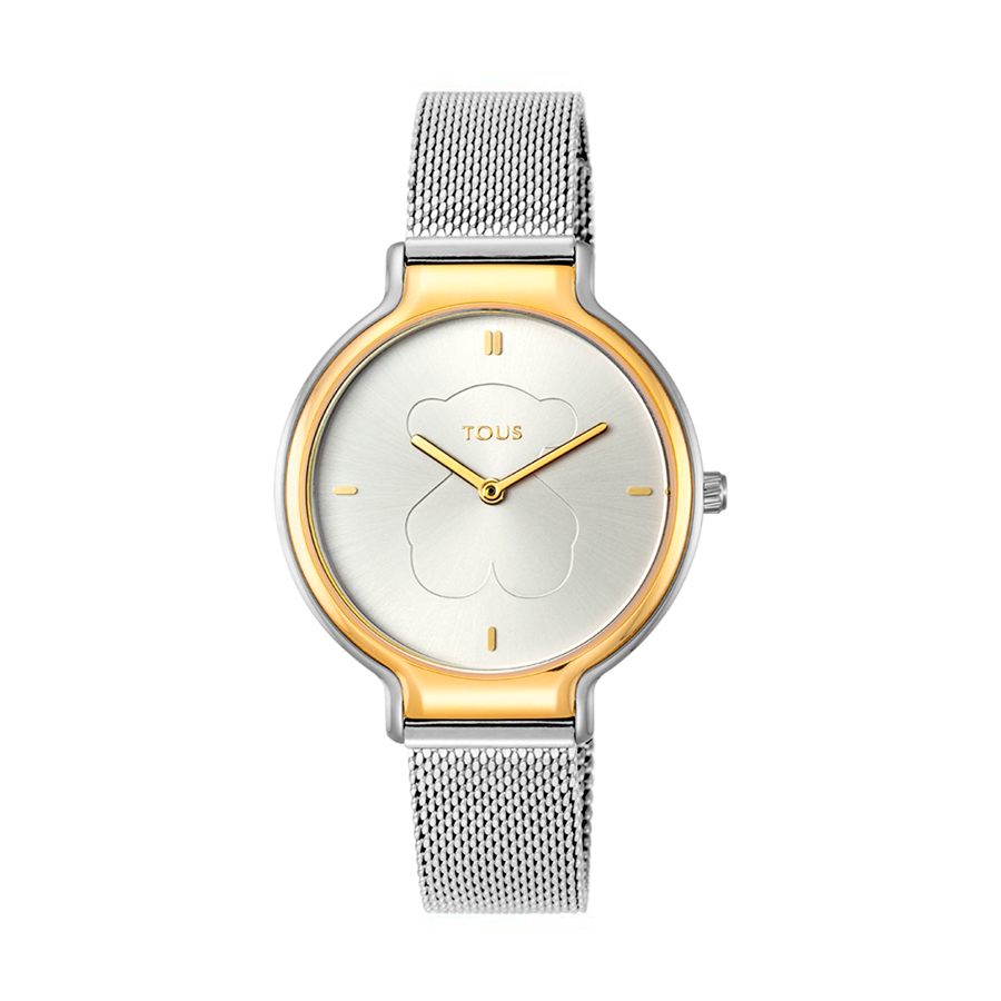 Reloj Tous Real Bear Mujer 900350385 Acero bicolor dorado con correa de malla