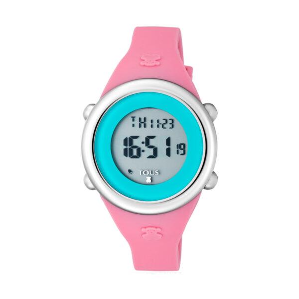 Reloj Tous Soft Digital Mujer 800350615 Correa silicona rosa