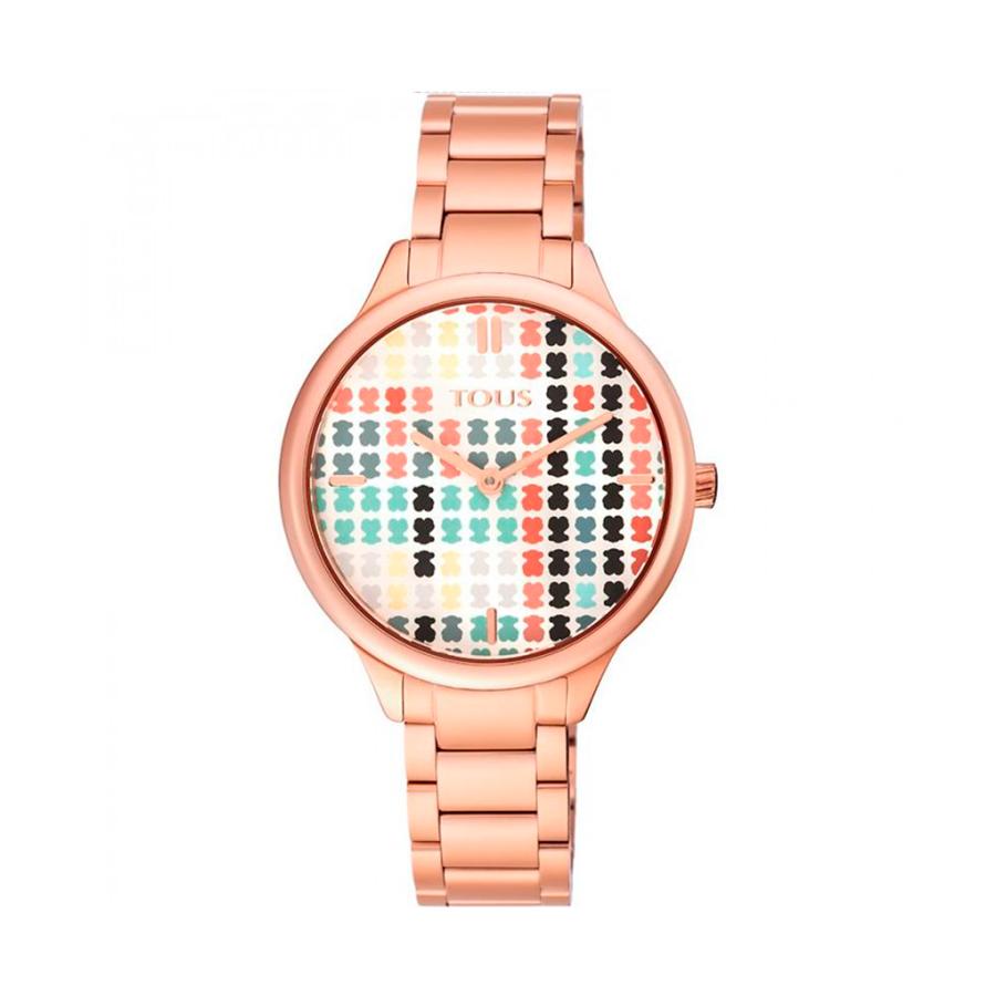 Reloj Tous Tartan Mujer 900350095 Rosado con esfera multicolor