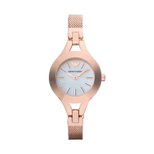 Reloj Armani Chiara Mujer AR7329 Acero rosado con esfera blanca y correa malla milanesa