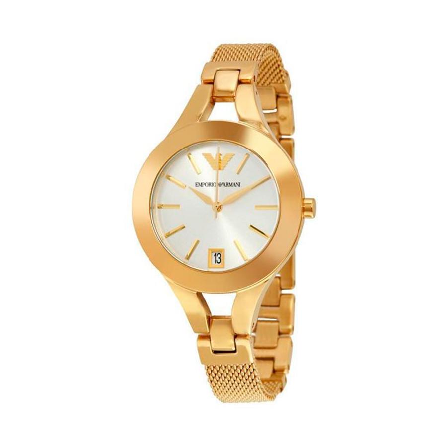 Reloj Armani Chiara Mujer AR7399 Acero dorado con esfera blanca y correa malla milanesa
