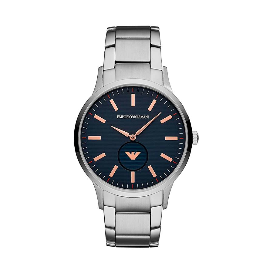 Reloj Armani Hombre AR11137 Acero con esfera negra con detalles rosados