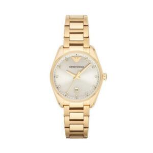 Reloj Armani Mujer AR6064 Acero dorado con esfera ornamentada  con cristales