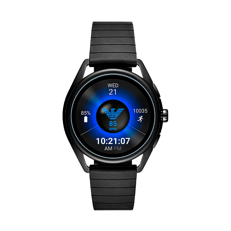 Reloj Armani SmartWatch SmartWatch Hombre ART5017 Acero negro con correa caucho negro