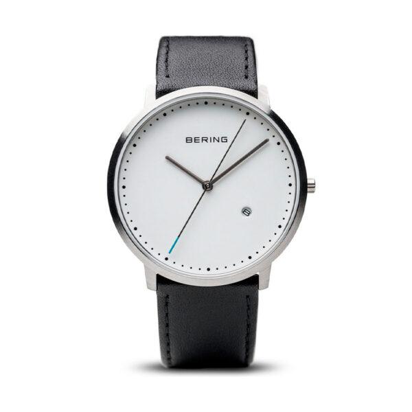 Reloj Bering Classic Hombre 11139-404 Acero plata con acabado cepillado esfera blanca e indicadores en color negro