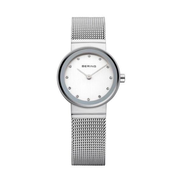 Reloj Bering Classic Mujer 10122-000 Acero con Swarovski Elements como indicadores de las horas y correa malla milanesa