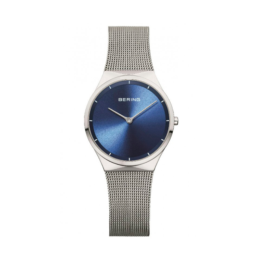 Reloj Bering Classic Mujer 12131-008 Acero esfera azul con malla milanesa