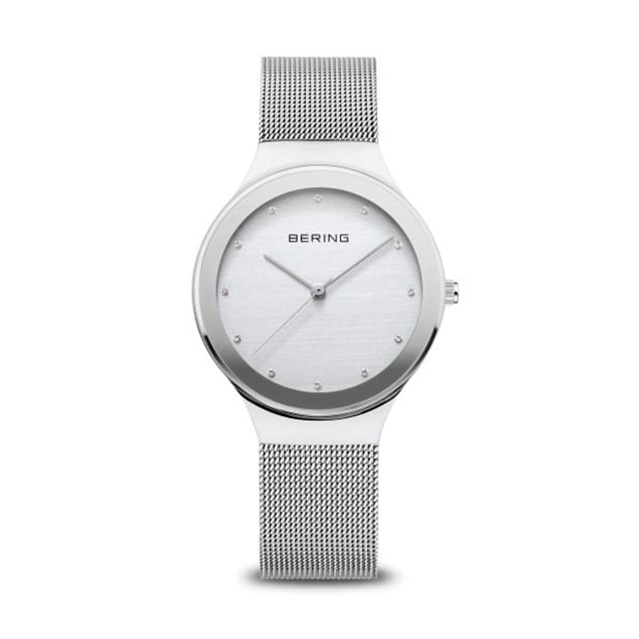 Reloj Bering Classic Mujer 12934-000 Acero esfera con Swarovski Elements como indicadores de las horas y correa malla milanesa