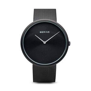 Reloj Bering Classic Unisex 14339-222 Acero negro con correa malla milanesa negra