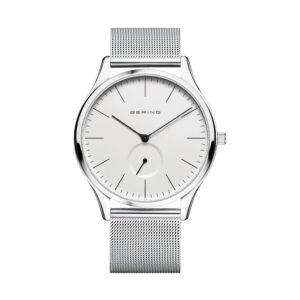 Reloj Bering Sale Hombre 16641-004 Acero plata pulido esfera blanca y correa malla milanesa plata