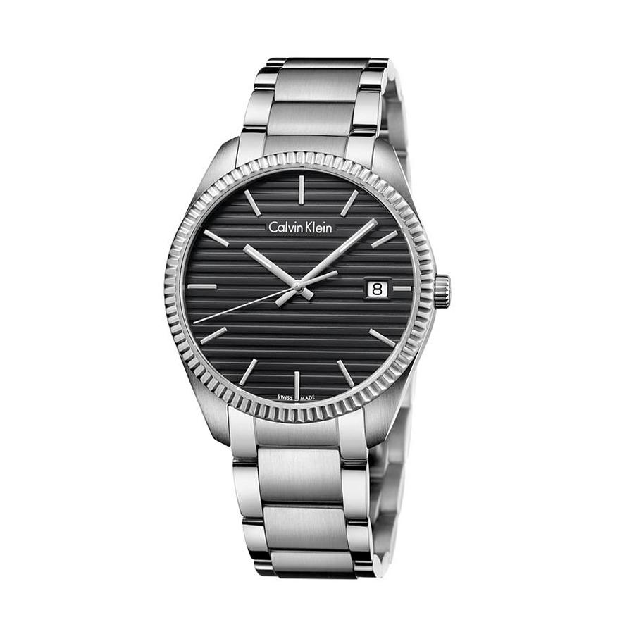 Reloj Calvin Klein Alliance Hombre K5R31141 Acero esfera negra y calendario con agujas neón