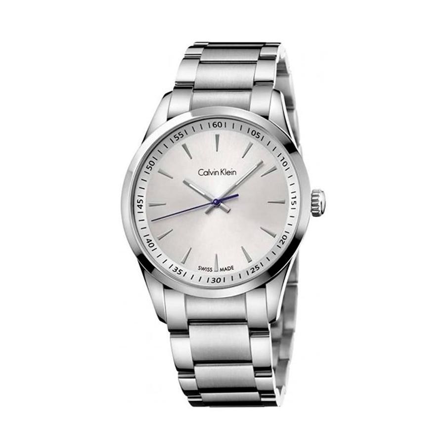 Reloj Calvin Klein Bold Hombre K5A31146 Acero con esfera blanca y aguja azul