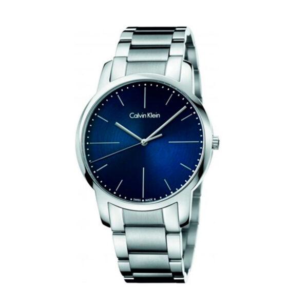 Reloj Calvin Klein City Unisex K2G2G1ZN Acero esfera azul