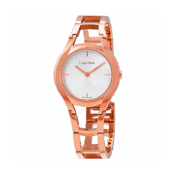 Reloj Calvin Klein Class  Mujer K6R23626 Acero rosado esfera plata
