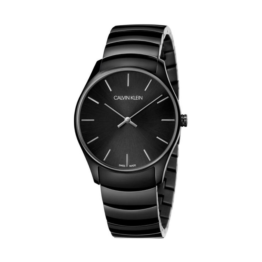 Reloj Calvin Klein Classic Unisex K4D21441 Acero negro y esfera negra con dos agujas
