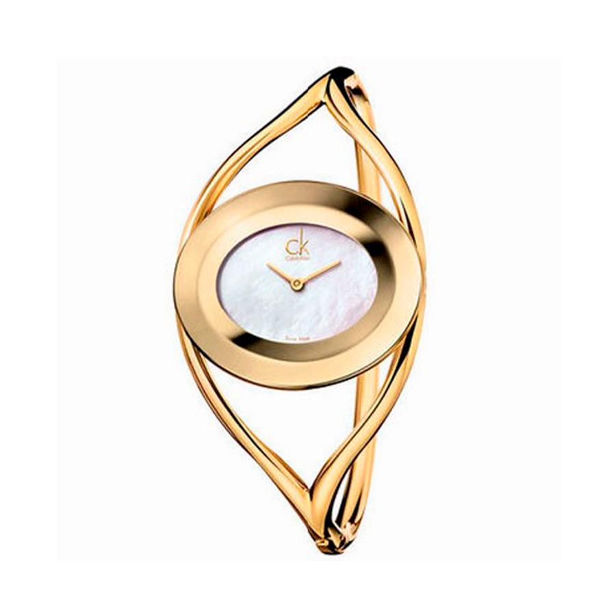 Reloj Calvin Klein Delight Mujer K1A2391G Acero dorado esfera nácar y brazalete rígido
