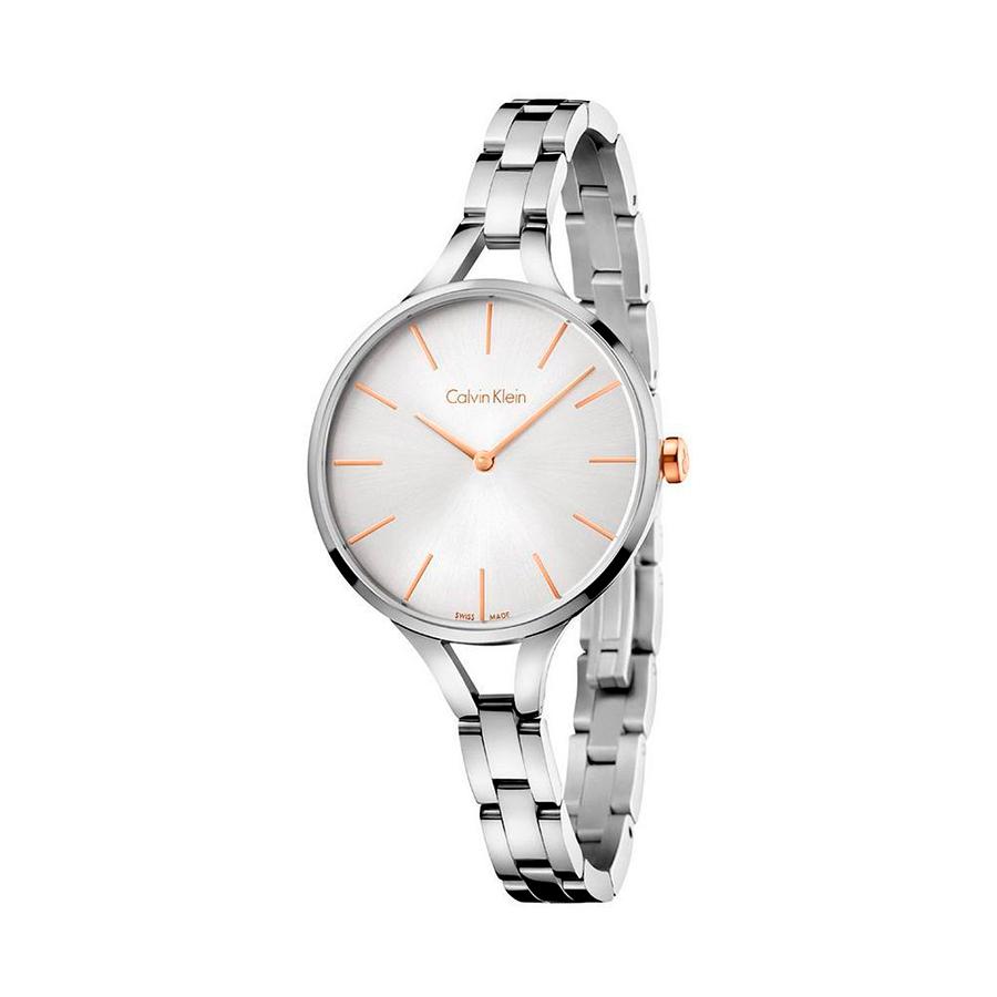 Reloj Calvin Klein Graphic Mujer K7E23B46 Acero esfera con detalles y corona rosados