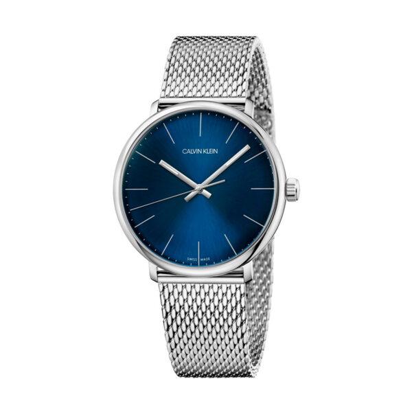 Reloj Calvin Klein High Noon Hombre K8M2112N Acero esfera azul y corre malla milanesa