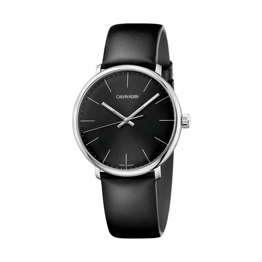 Reloj Calvin Klein High Noon Hombre K8M211C1 Acero con esfera negra y correa negra piel