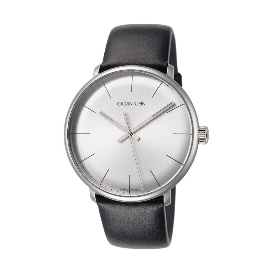 Reloj Calvin Klein High Noon Unisex K8M211C6 Acero esfera azul aguja neón y correa malla milanesa plata