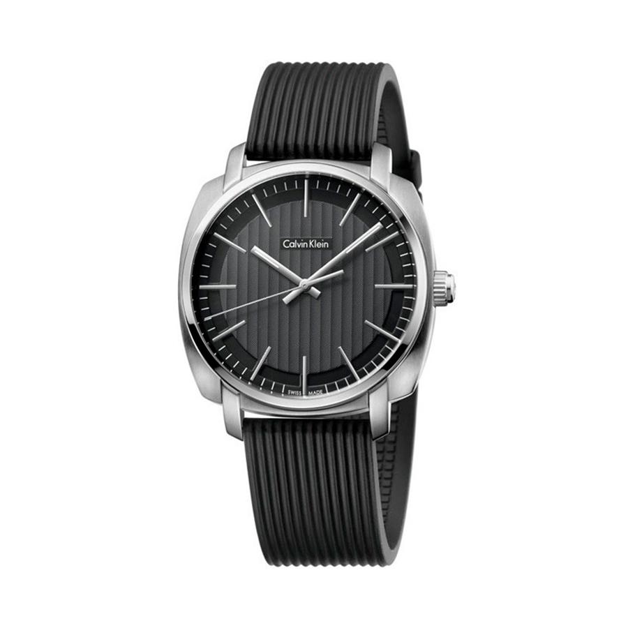 Reloj Calvin Klein Highlin Hombre K5M311D1 Acero esfera negra y correa caucho negra