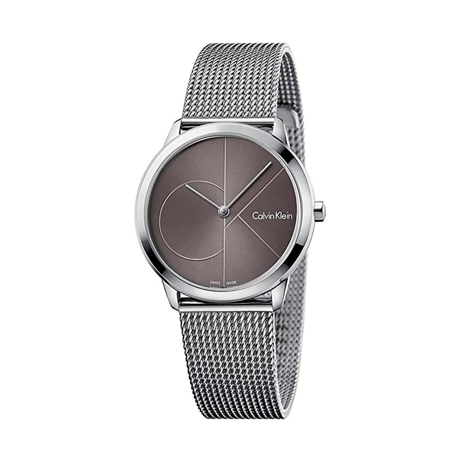 Reloj Calvin Klein Minimal Hombre K3M22123 Acero esfera gris y correa malla milanesa