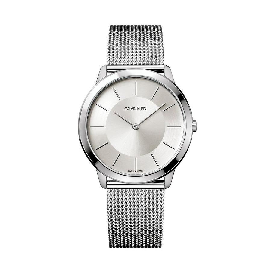 Reloj Calvin Klein Minimal Mujer K3M21126 Acero esfera plata y correa malla milanesa plata