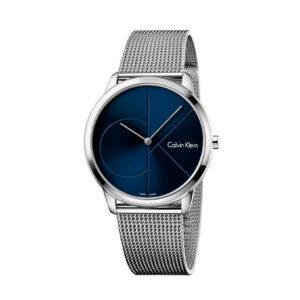 Reloj Calvin Klein Minimal Mujer K3M2112N Acero esfera azul y correa malla milanesa plata