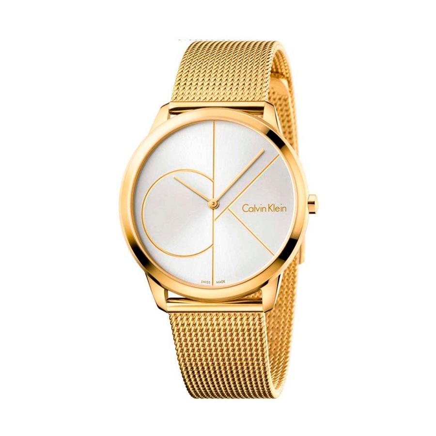 Reloj Calvin Klein Minimal Mujer K3M21526 Acero dorado con esfera plata