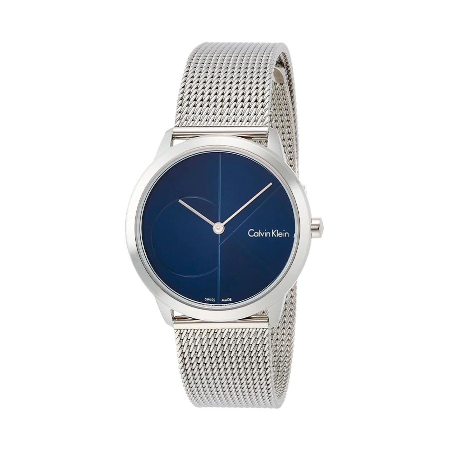 Reloj Calvin Klein Minimal Mujer K3M2212N Acero esfera azul y correa malla milanesa