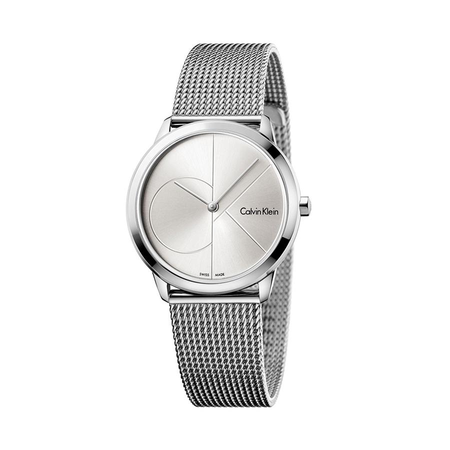 Reloj Calvin Klein Minimal Mujer K3M2212Z Acero esfera plata y correa malla milanesa plata