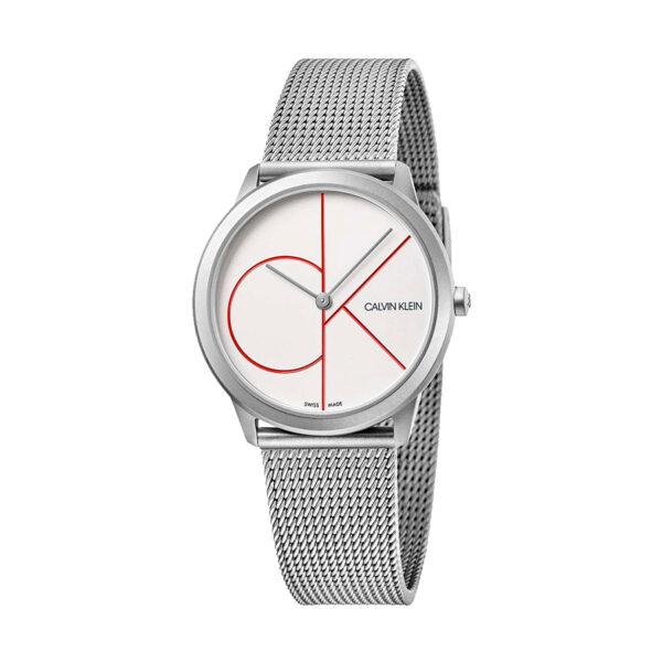 Reloj Calvin Klein Minimal Mujer K3M52152 Acero con logotipo color en la esfera y correa malla milanesa