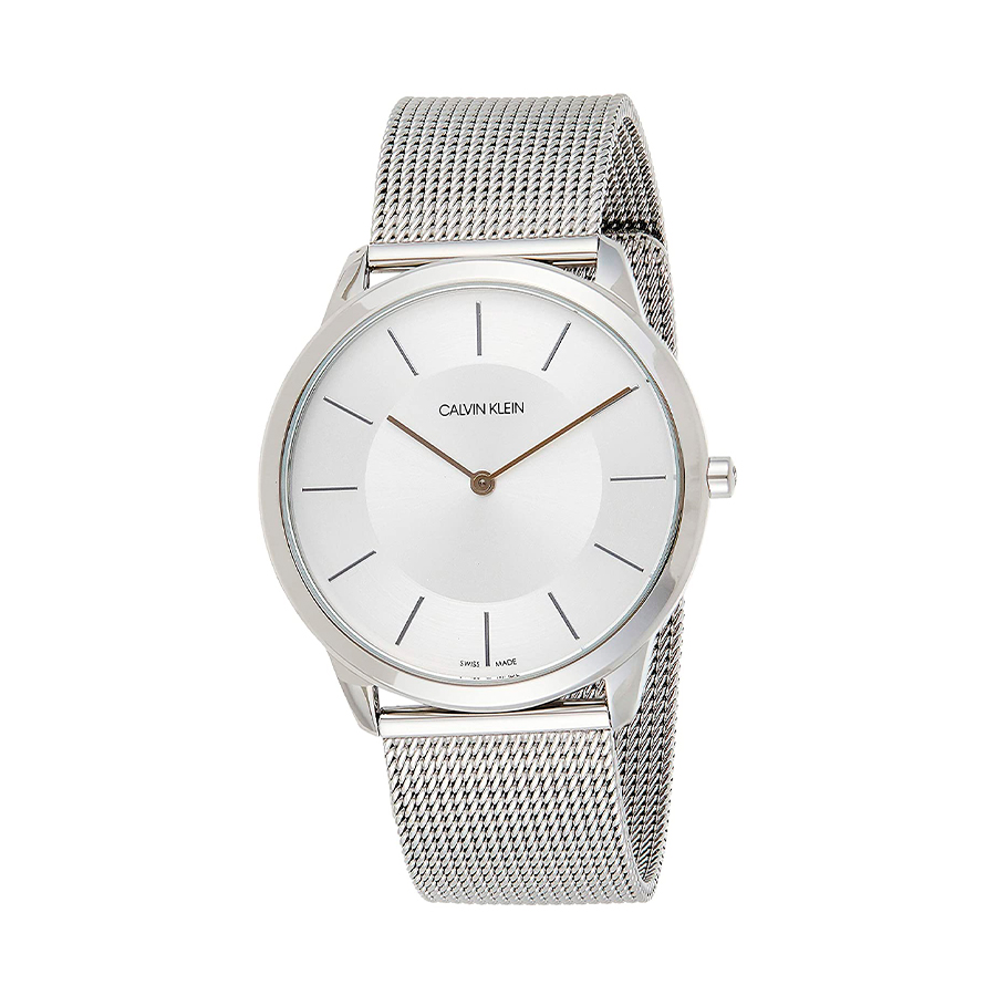 Reloj Calvin Klein Minimal Unisex K3M2T126 Acero esfera plata y correa malla milanesa plata