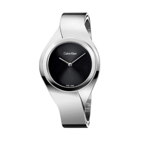 Reloj Calvin Klein Senses Mujer K5N2M121 Acero esfera negra y brazalete rígido