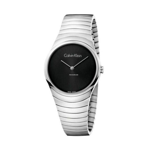 Reloj Calvin Klein Whirl Mujer K8A23141 Acero con esfera negra
