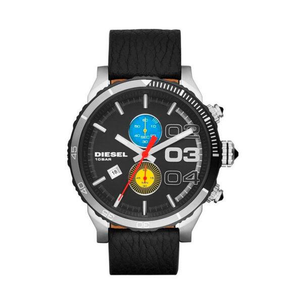 Reloj Diesel Double Down Hombre DZ4331 Acero correa negra 3 agujas calendario