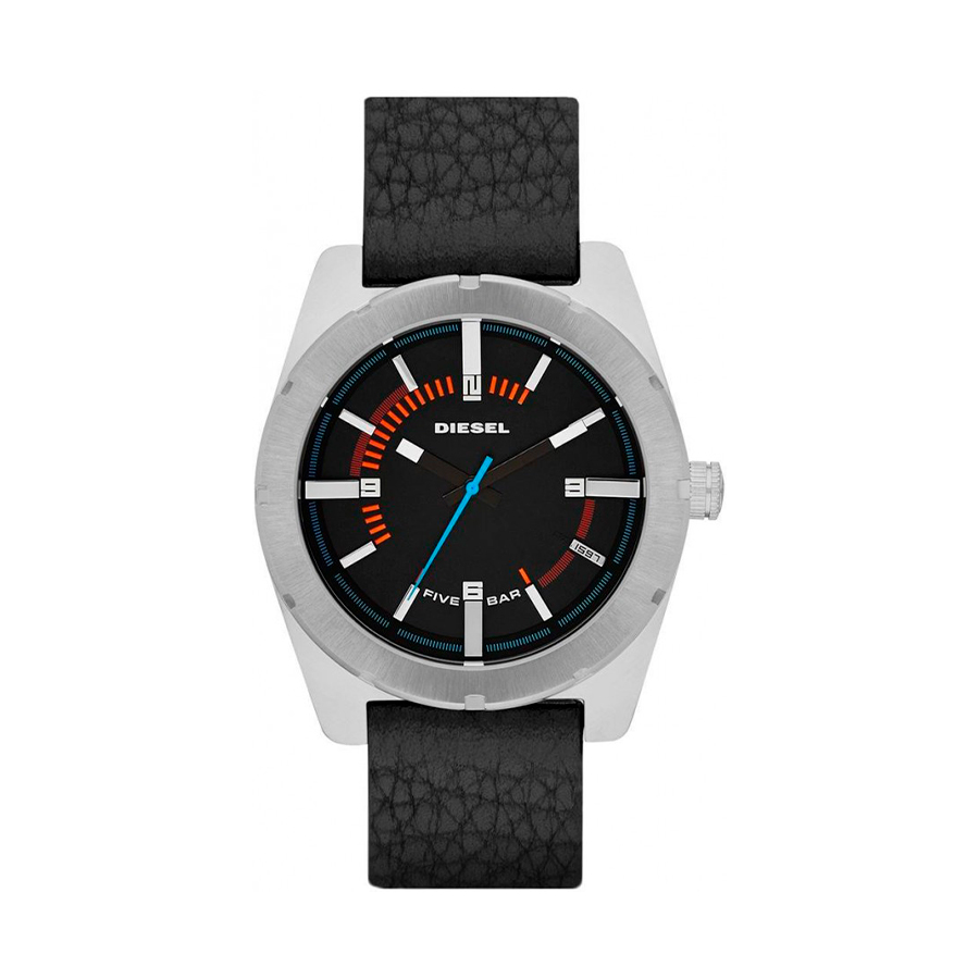 Reloj Diesel Good Company Hombre DZ1597 Acero piel negra 3 agujas