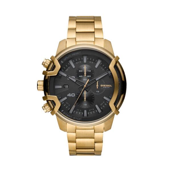 Reloj Diesel Griffed Hombre DZ4522 Dorado esfera negra crono