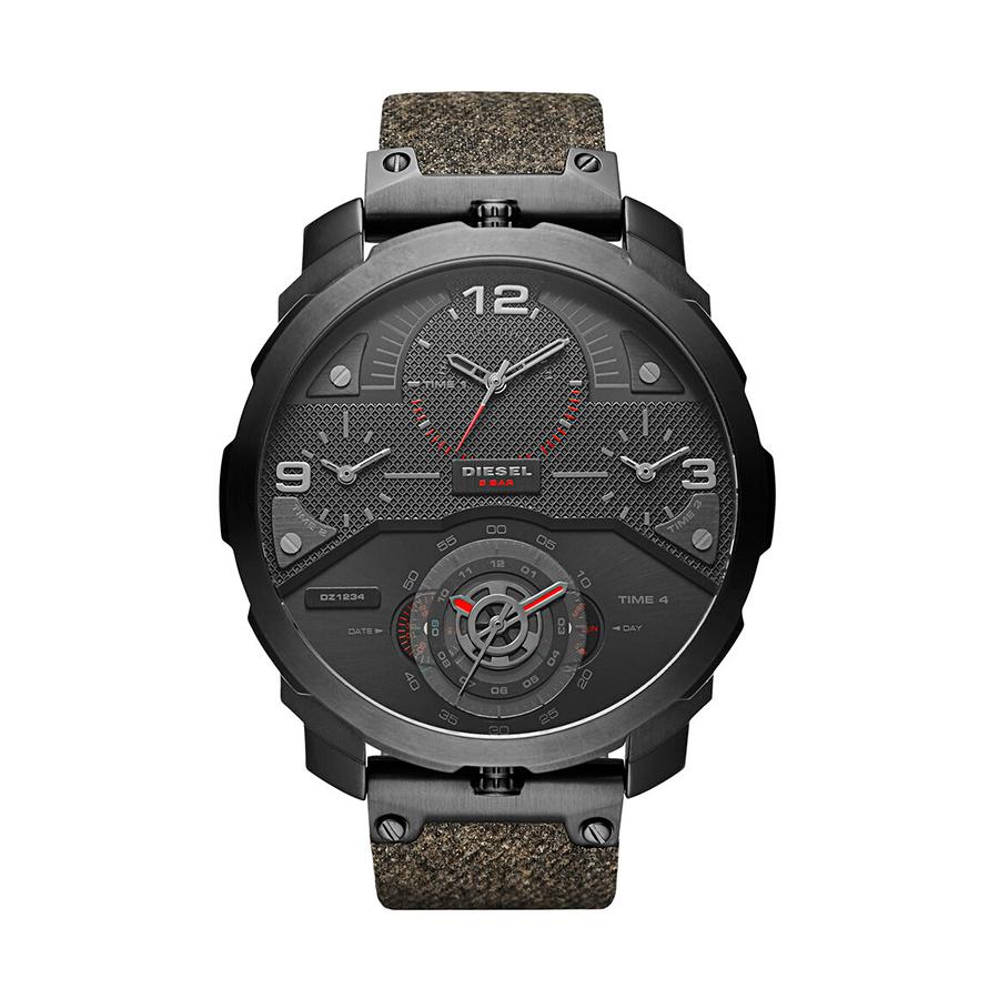 Reloj Diesel Machinus Hombre DZ7358 Acero negro correa textil