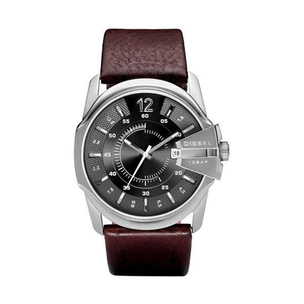 Reloj Diesel Mega Chief Hombre DZ1206 Acero esfera gris correa piel marrón