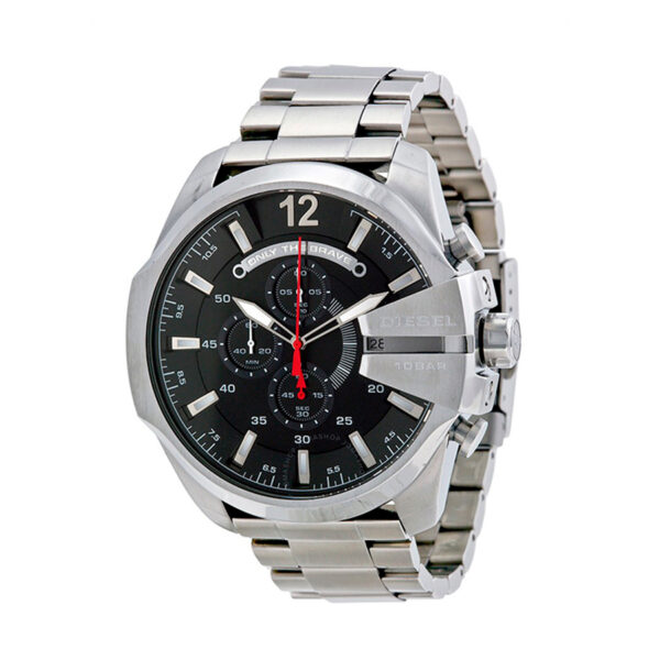 Reloj Diesel Mega Chief Hombre DZ4308 Acero esfera negra crono