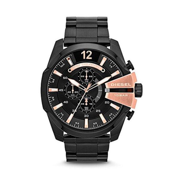 Reloj Diesel Mega Chief Hombre DZ4309 Bicolor negro y rosado crono