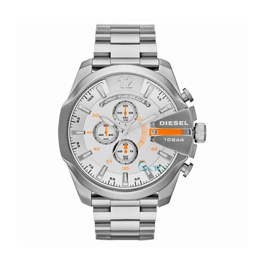 Reloj Diesel Mega Chief Hombre DZ4328 Acero con tonos naranjas crono