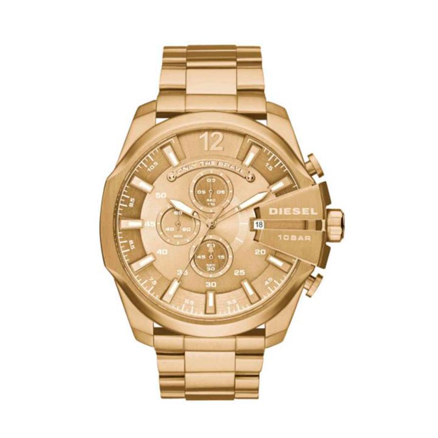 Reloj Diesel Mega Chief Hombre DZ4360 Dorado esfera dorada crono