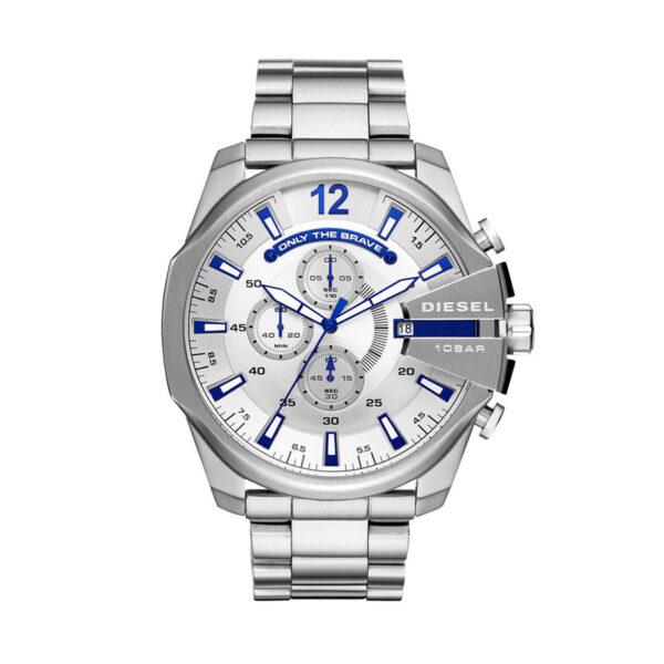Reloj Diesel Mega Chief Hombre DZ4477 Acero tonos azules crono
