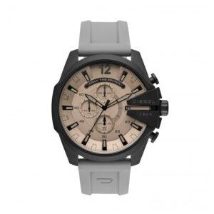 Reloj Diesel Mega Chief Hombre DZ4496 Acero gris correa silicona gris crono