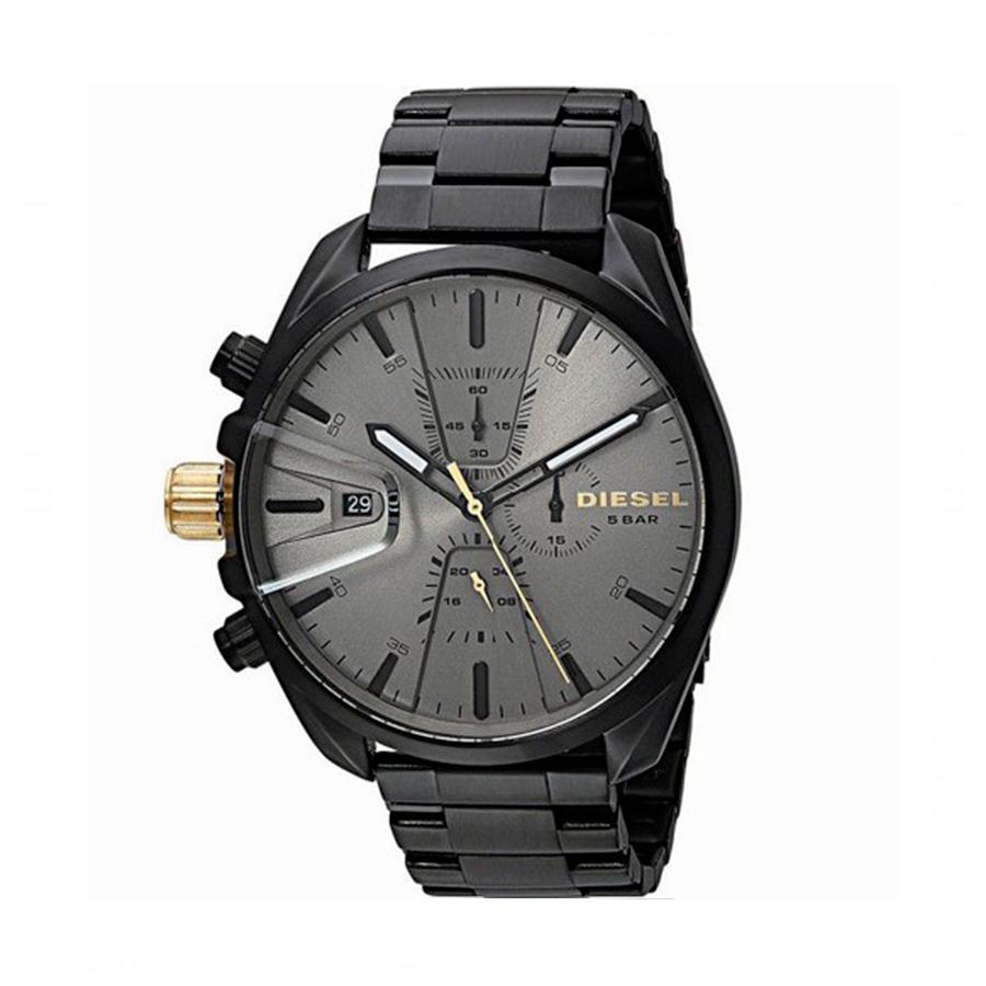 Reloj Diesel Ms9 Hombre DZ4474 Acero negro esfera gris crono